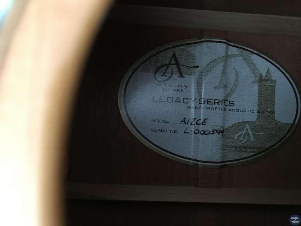 Avalon A12CE legacy series, Gitarr