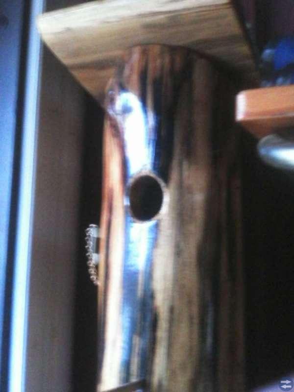 Barskåp,format som fågelholk.