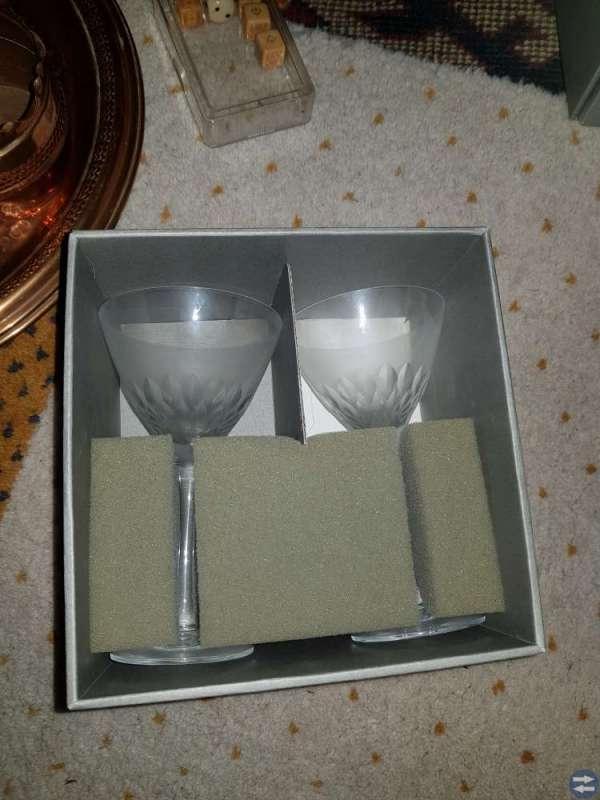2 sherryglas, Orrefors