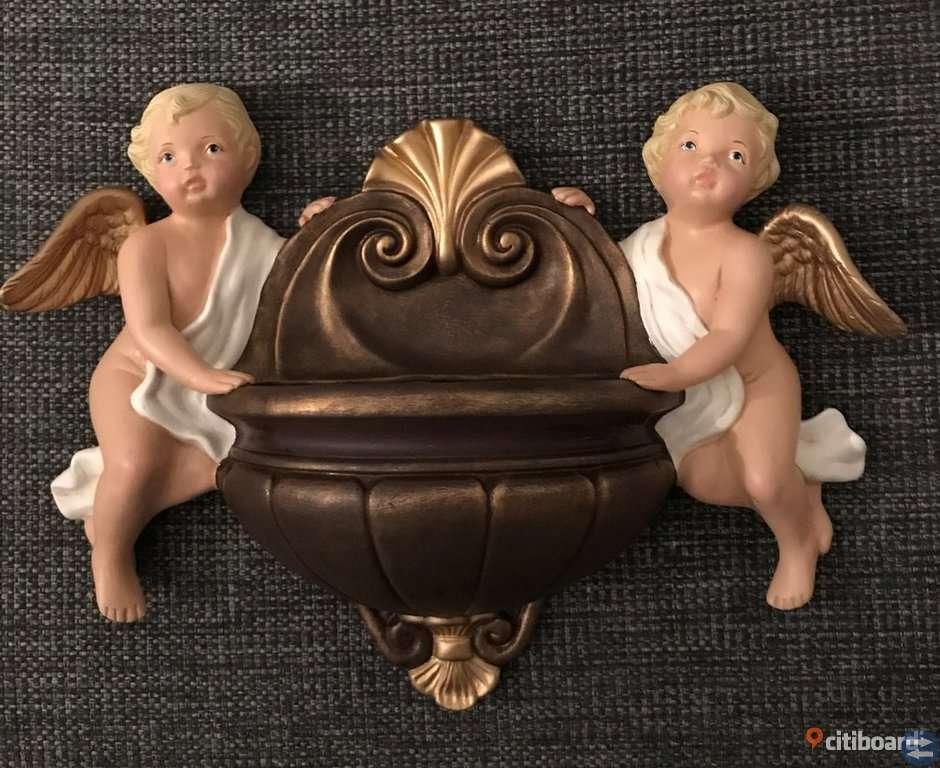 Väggdekoration med änglar