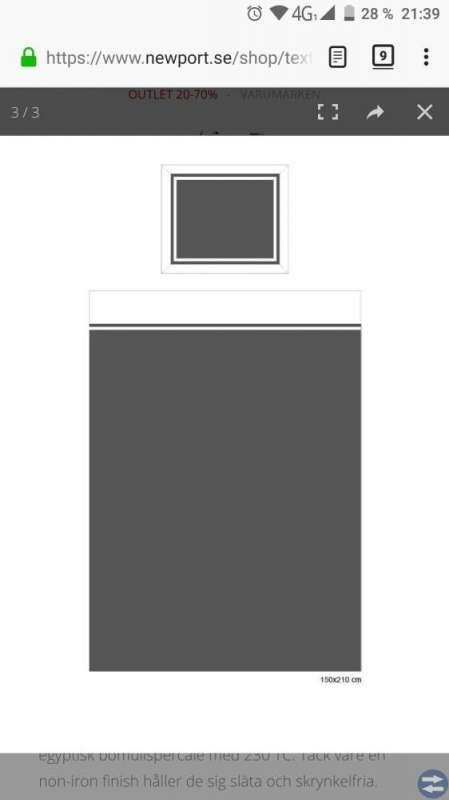 Newport Belgravia grå/vit påslakan (2st)