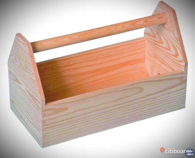 Snickare verktygslåda trä