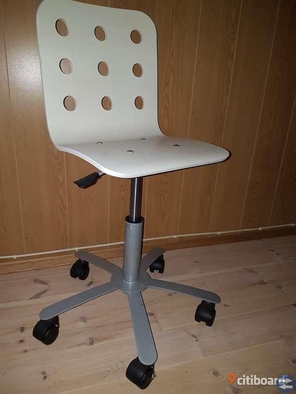 Datorstol skrivbordstol barn höjbar sänkbar nyskick IKEA Julis