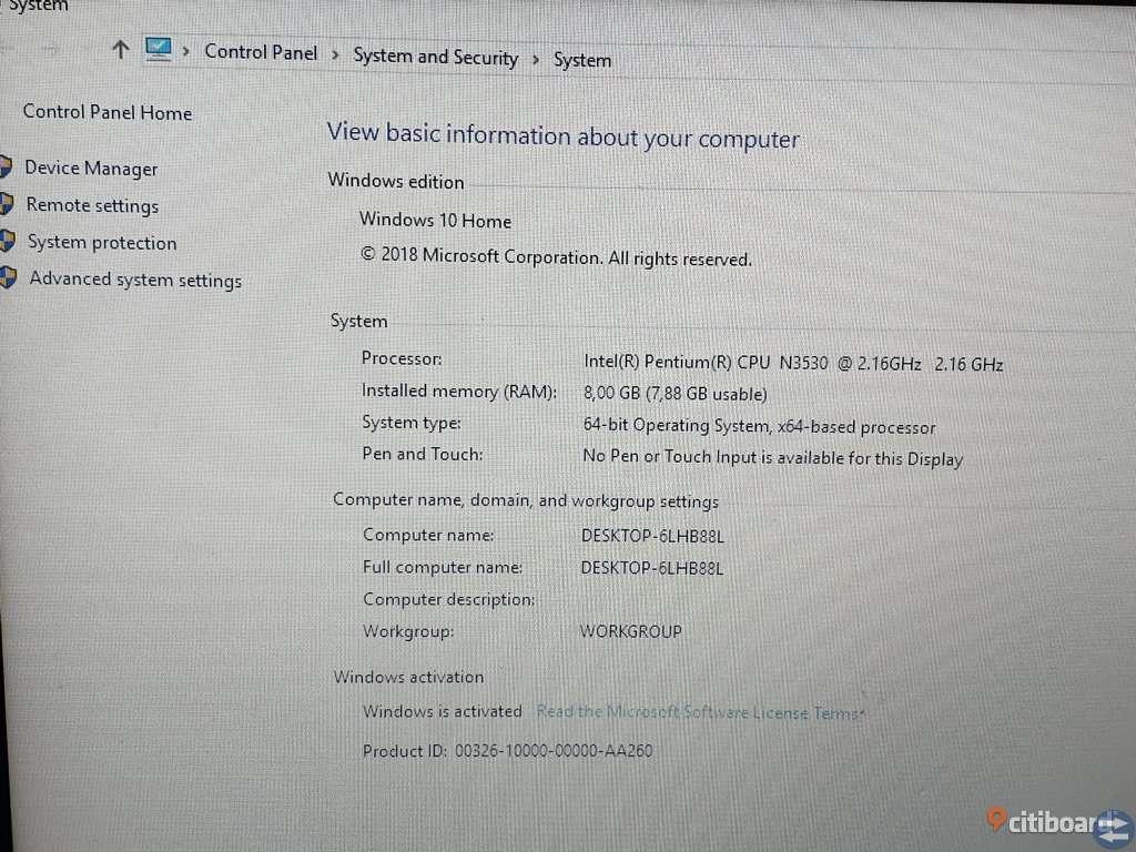 Laptop säljes 2300kr