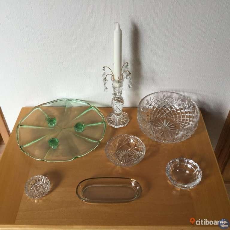 Äldre glas o porslin Vintage