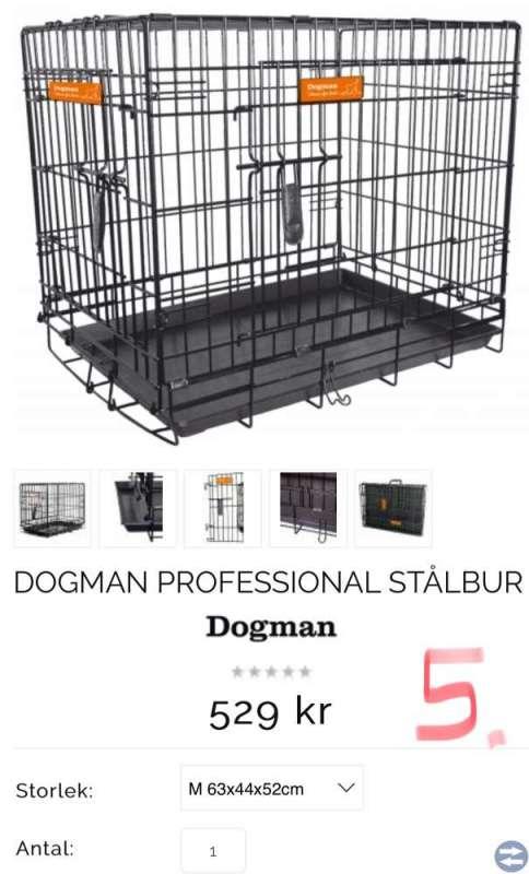 Doggman hundbur ar  bilbur hund 3 st