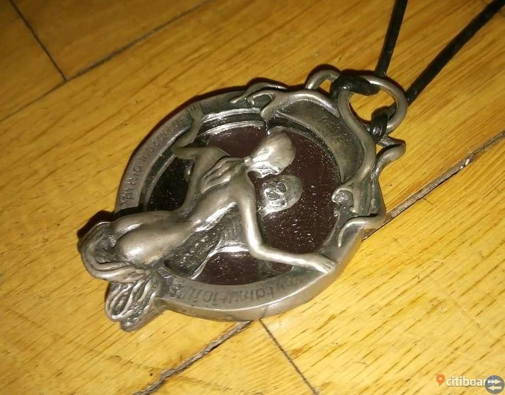 Alchemy Gothic Halsband * Skeleton Reflection Mirror Necklace