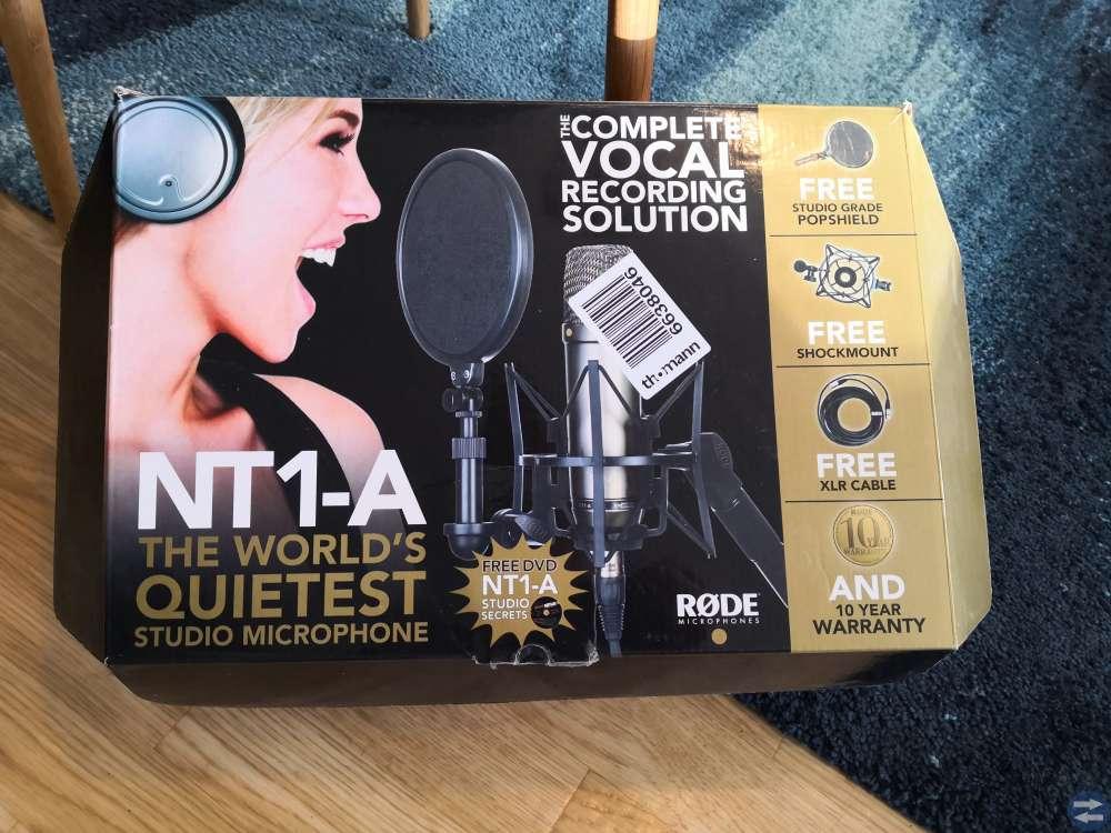 Rode NT1-A mikrofon och scarlett 2i2 (ljudkort)
