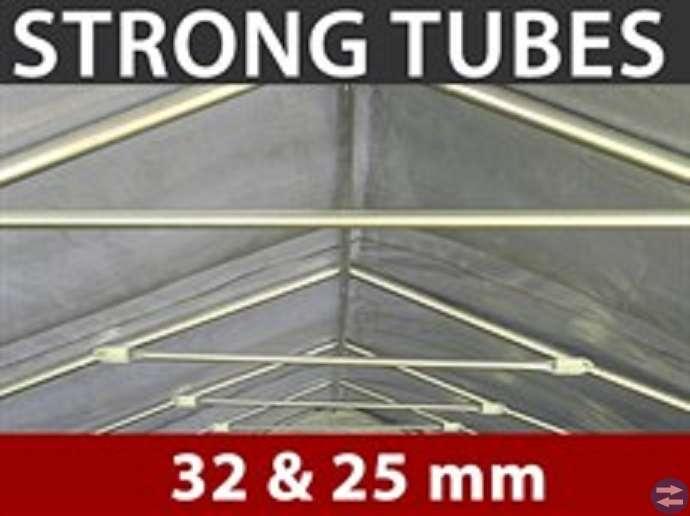 Garagetält 2,4 x 3,6 x 2,34 m PVC Grå Nu! 3200:-