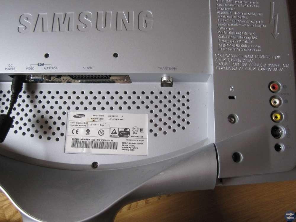 LCD TV Samsung 15 tum