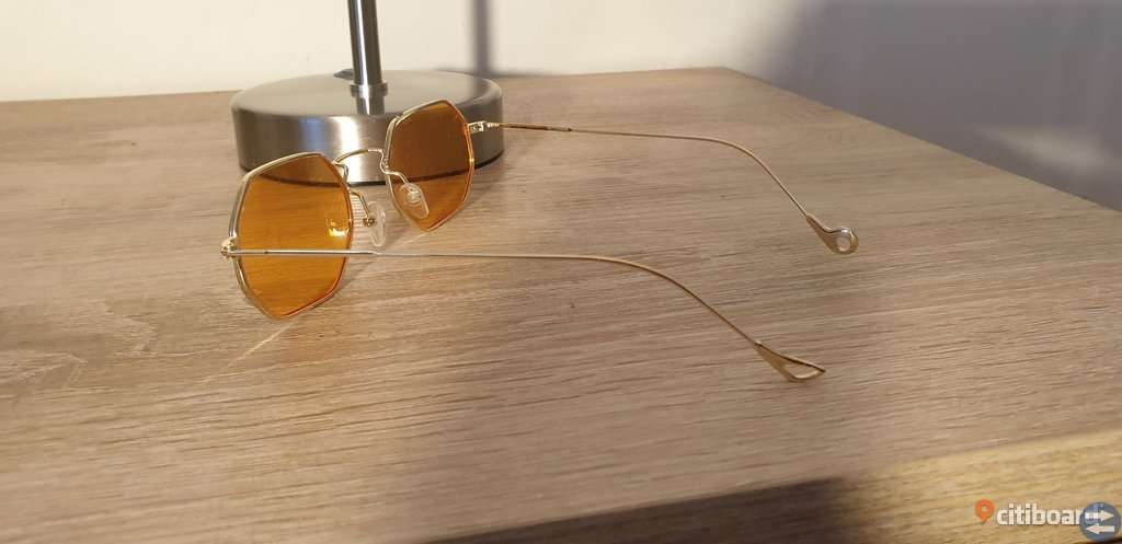 Orange Rounded Lens Retro Sunglasses