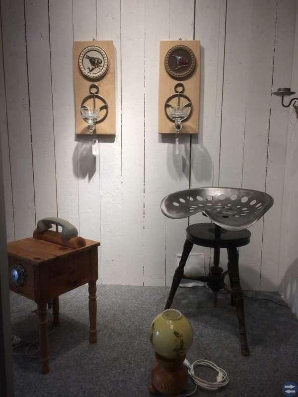 Lampor, tavlor m m av återvunnet material