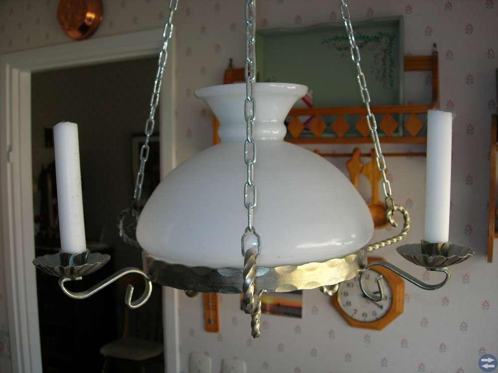 Tak-kökslampa med 3 ljushållare