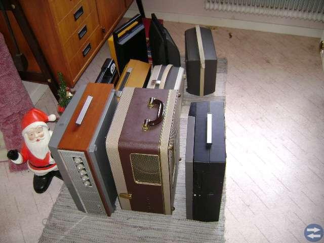 Bandspelare,skivspelare,radio.