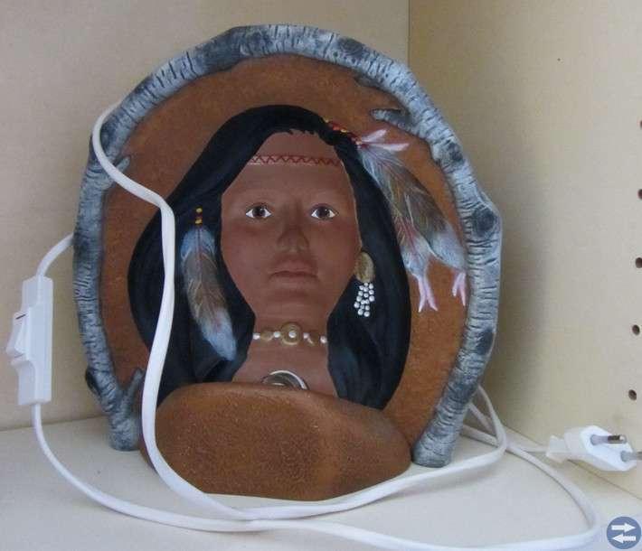 Indianlampa (handmålad)