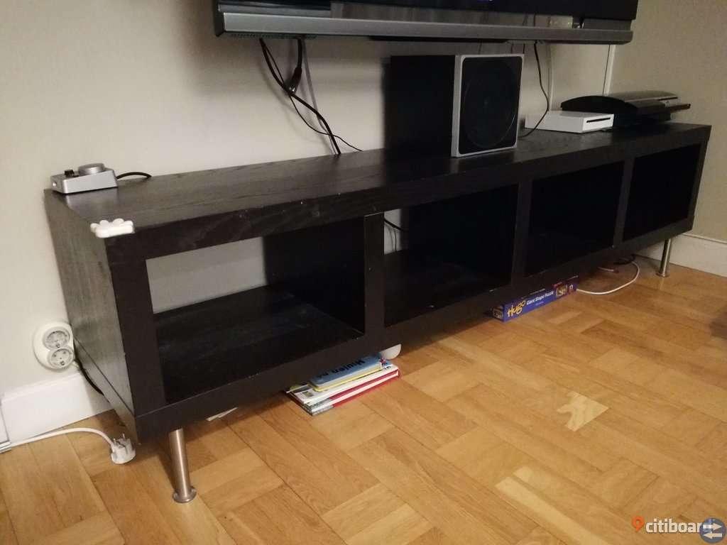 Ikea möbler: Bokhylla, byrå o hylla/Tv-bänk