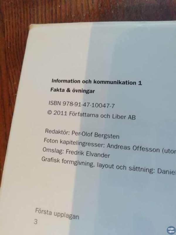 Information och kommunikation 1