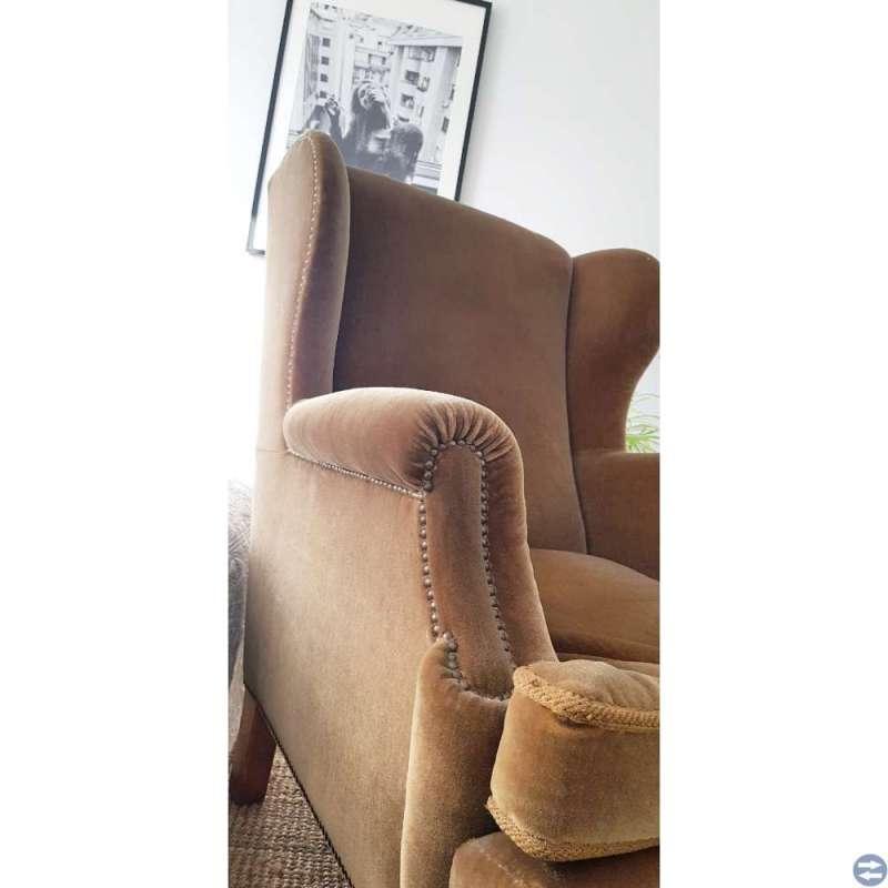 Ørelappstol med vakre detaljer