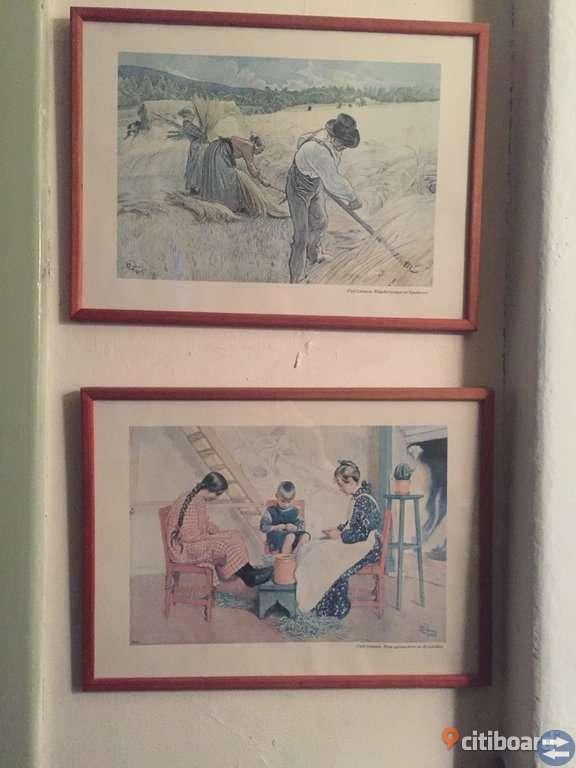 Carl Larsson tavlor 4 st i ram
