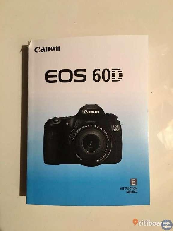 Canon EOS 60D/18.0 MP.Digital SLR Kamera sporadiskt använd