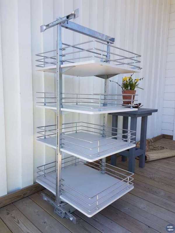 Utdragbar hyllsektion för 60cm skåp i kök