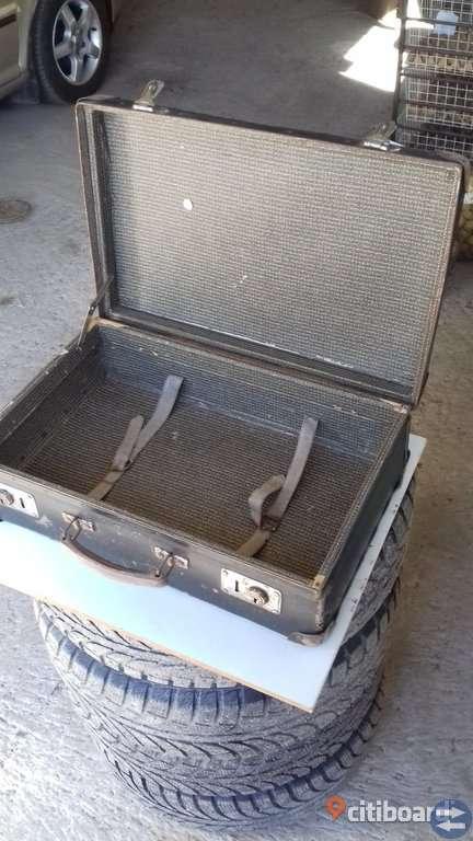 Gammal väska - portfölj