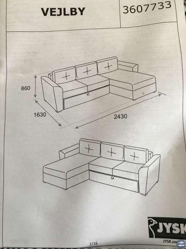Bäddsoffa m divan