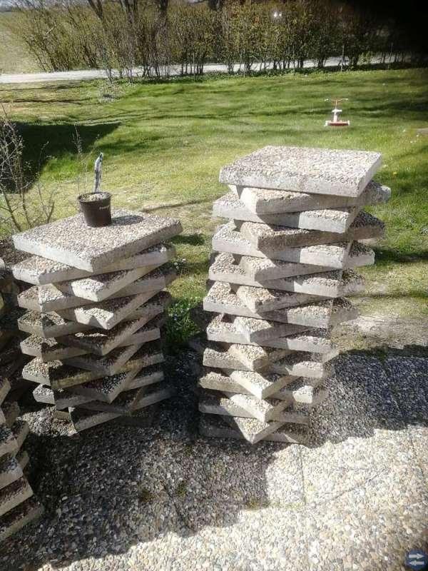Sjöstensplattor, cementplattor