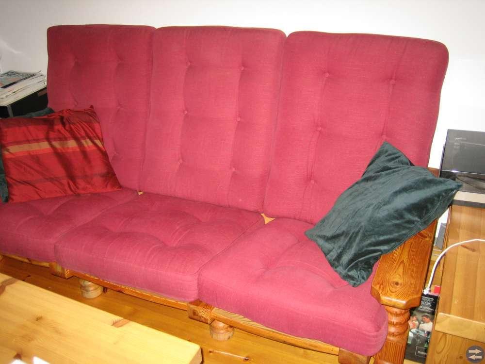 Soffa + 2 fåtöljer