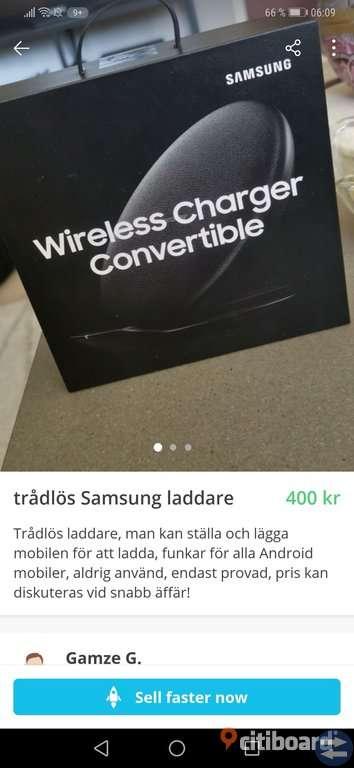 Trådlös Samsung laddare