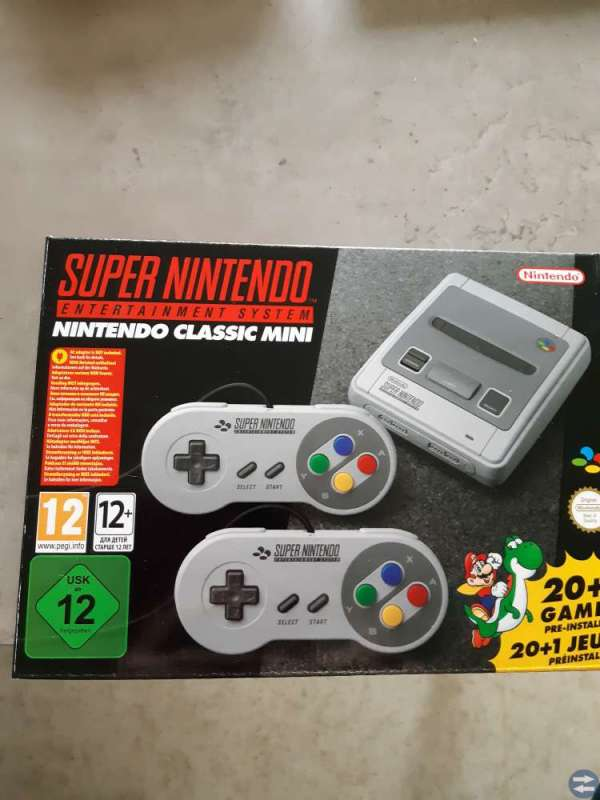 Super Nintendo glassig mini