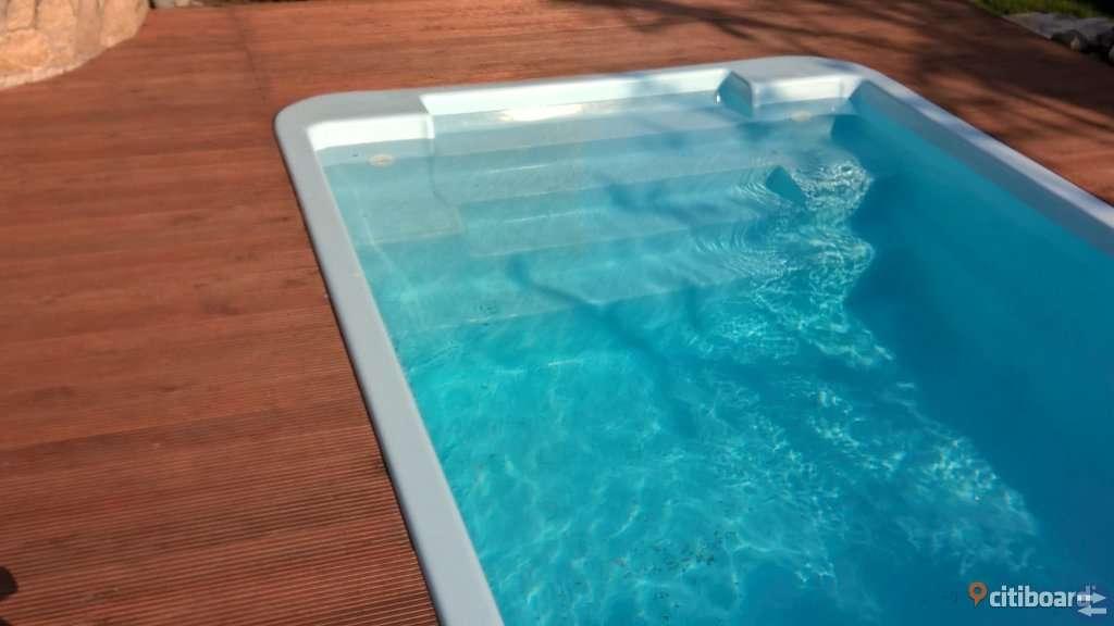 Polyesterpool simbassäng glasfiber tillverkare anti-osmos 6,30x3,00x1,50m