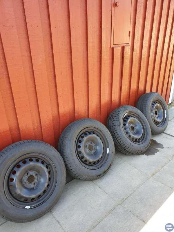 nya sommardäck på fälg