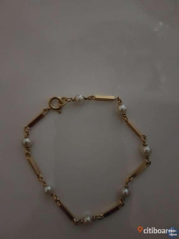 Vackert armband i 18 k guld