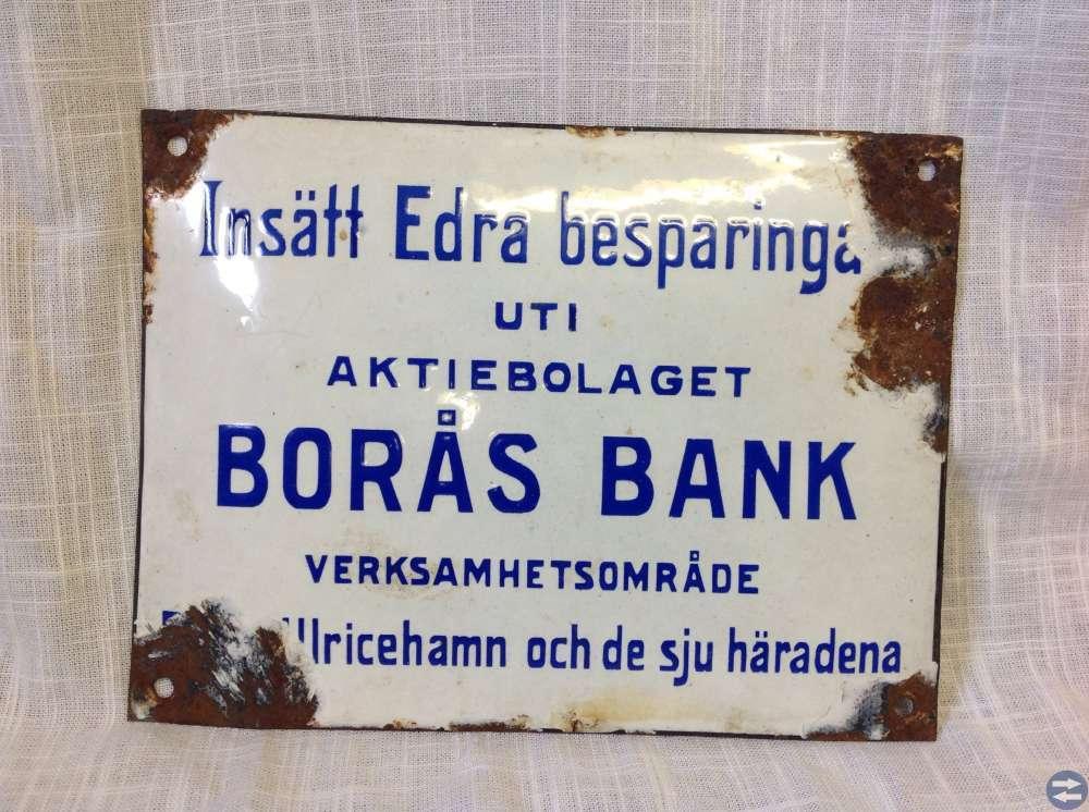 Emaljskylt AB BORÅS BANK
