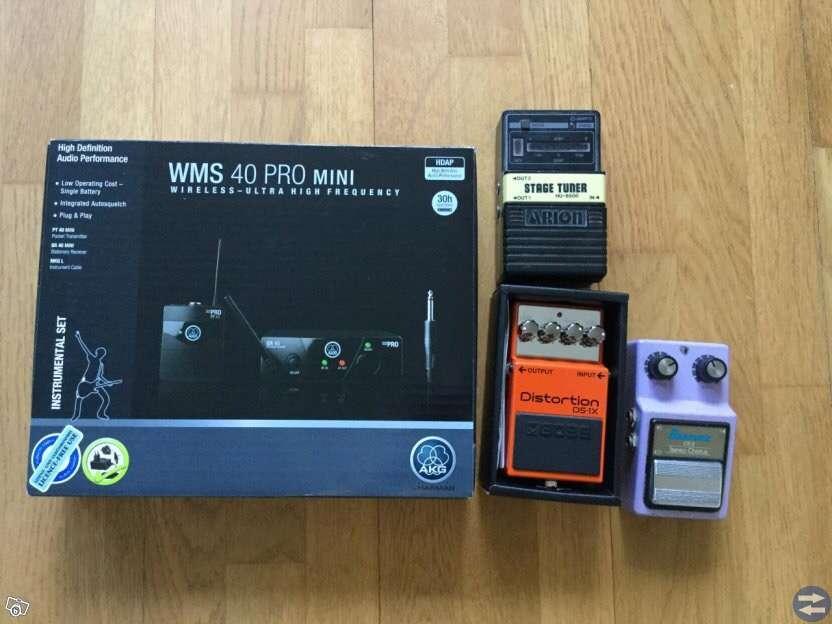 Fender gitarr, förstärkare, trådlöst system