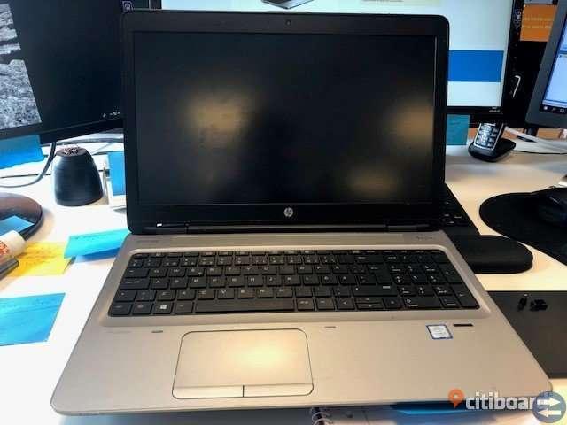 HP ProBook 650 G3 med docka
