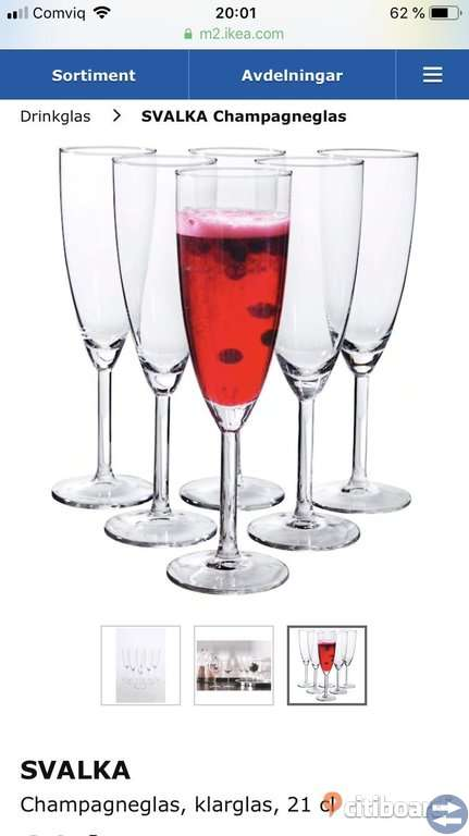 Champagneglas, IKEA SVALKA