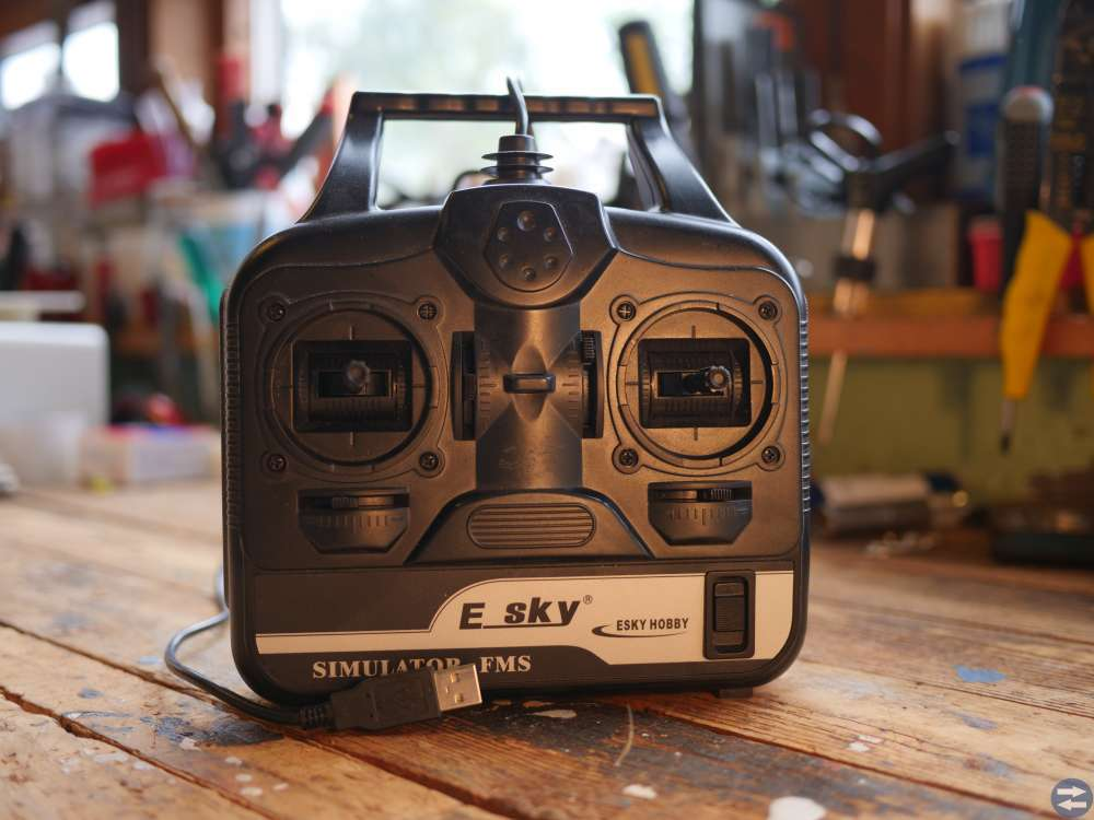 E-SKY EMS RC Flygsimulator kontrollenhet