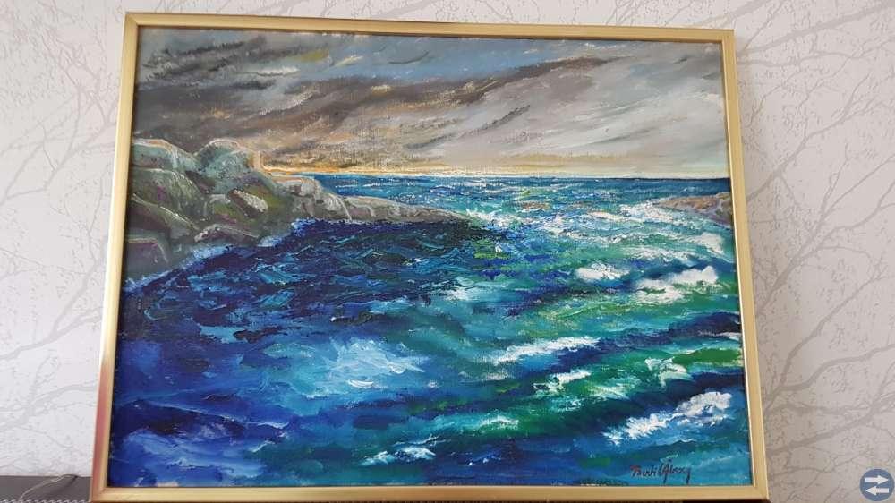 Oljemålning av Bertil Åberg