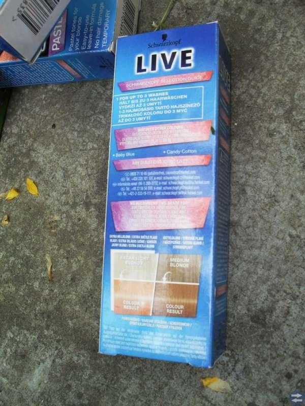 Schwarzkopf live pastel spray Apricot --HELT  NYTT