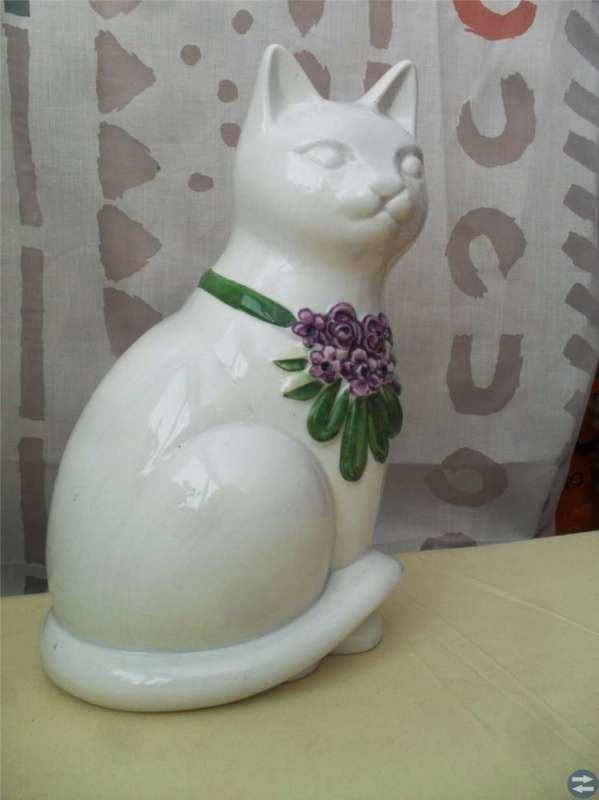Stor vacker katt handmålad / ROSA LJUNG