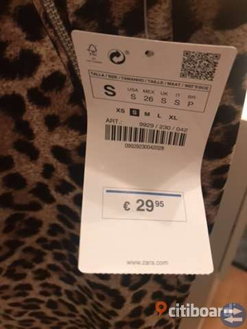 Leopardmönstrad byxor från ZARA