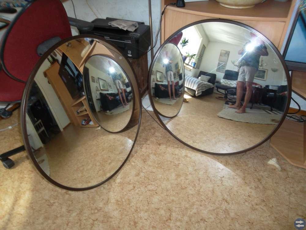 Butiksspeglar, vidvinkelperspektiv 2 st.