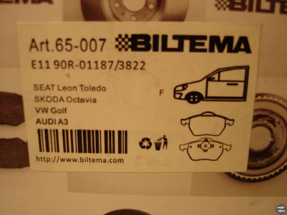 Biltema bromsbelägg 65-007 till Skoda Oktavia