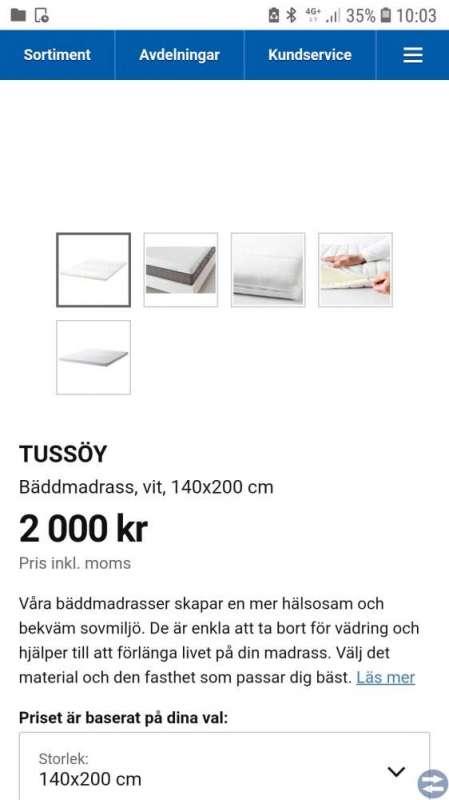 Säng 140x200