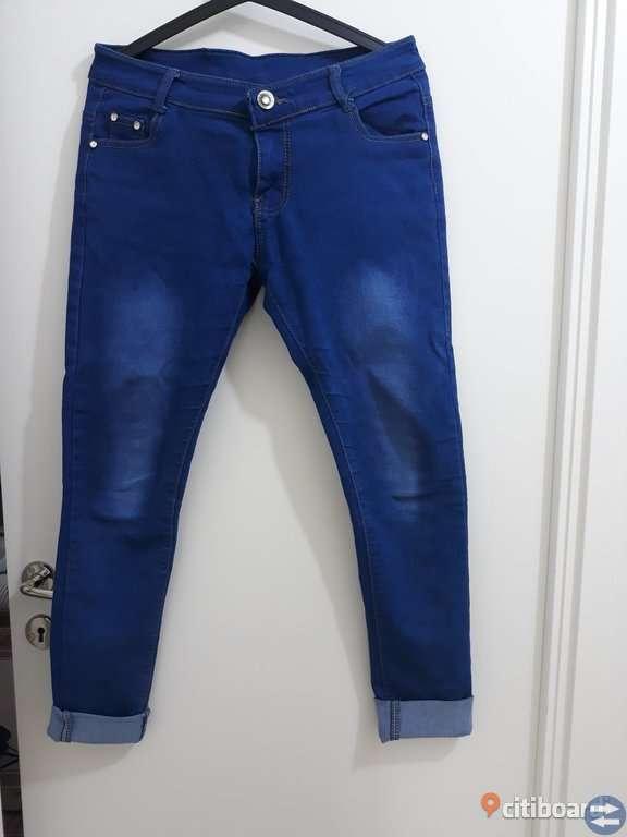 Jeans klänning med byxor