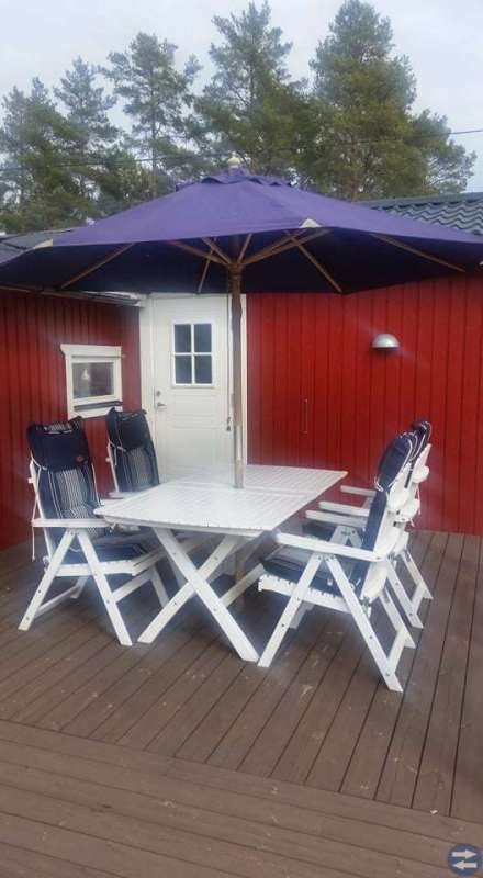 Sandhamn trädgårdsbord och 6 positionsstolar