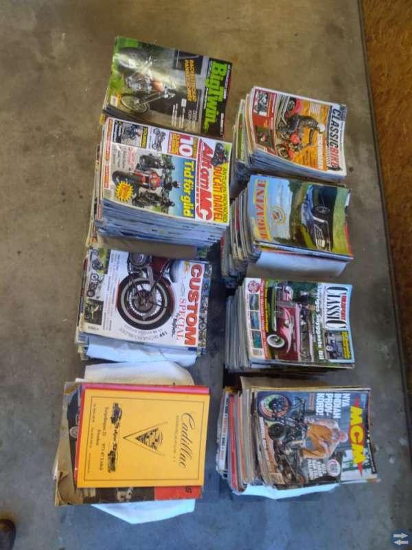 Bil-och mctidningar, Ford broschyr-56, cadillac