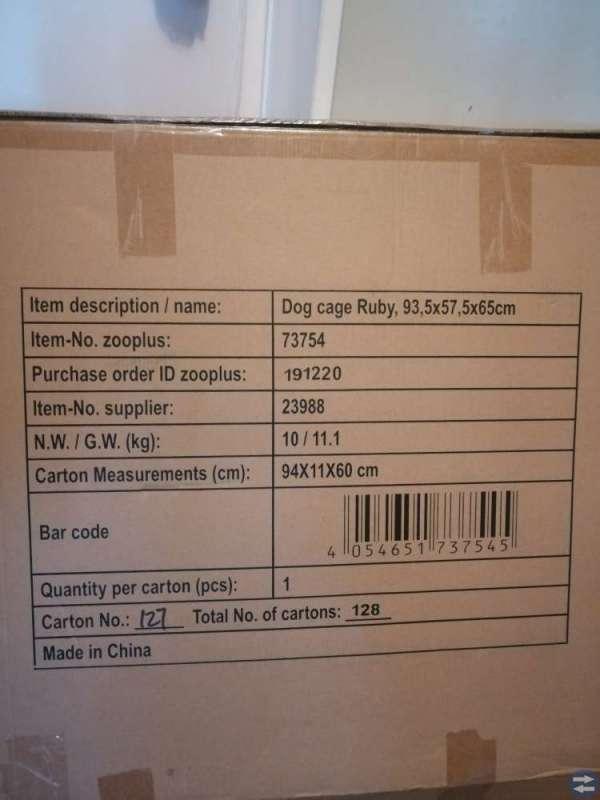 Transportbur för hundar str L